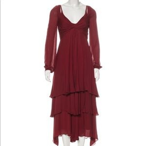 Stunning Cinq a Sept midi burnt red dress